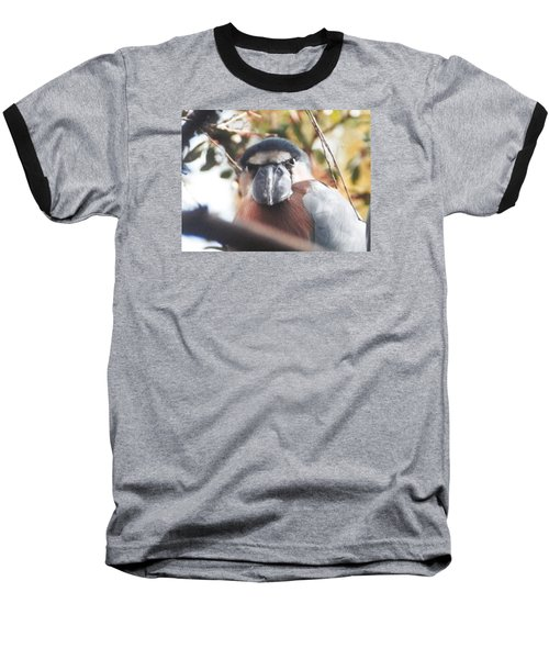 Baseball T-Shirt featuring the photograph Funny Bird Face by Belinda Lee