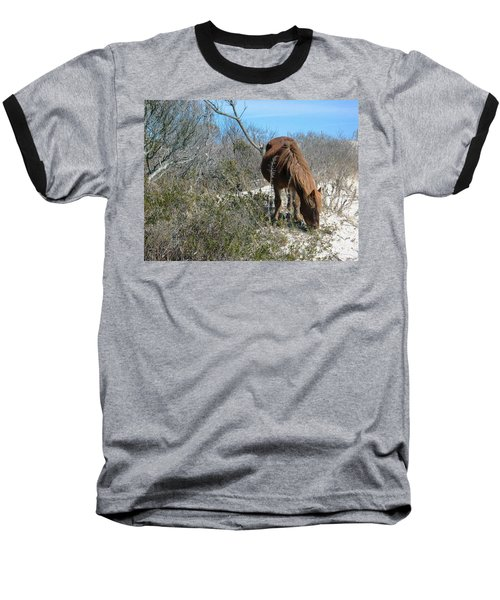 Baseball T-Shirt featuring the photograph What Do I See Here? by Photographic Arts And Design Studio