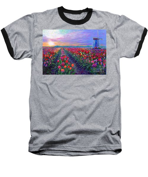 Tulip Fields, What Dreams May Come Baseball T-Shirt
