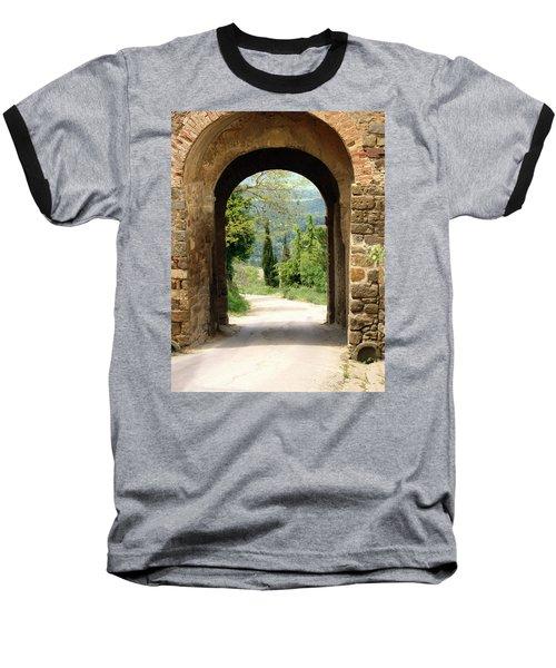 What Lies Ahead Baseball T-Shirt by Ellen Henneke
