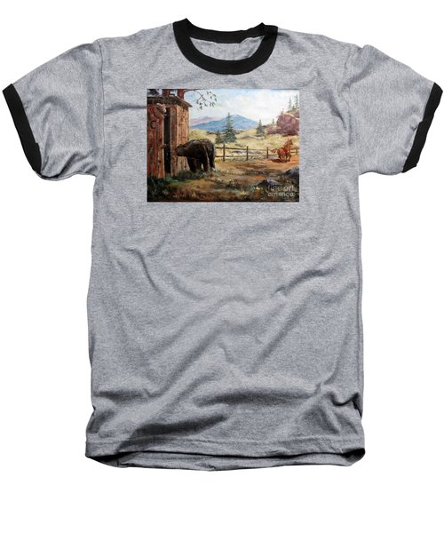 What Now Baseball T-Shirt by Lee Piper