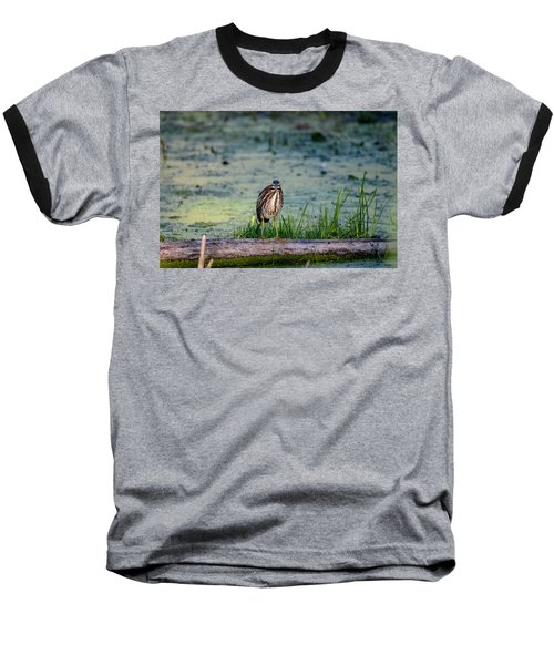 Baseball T-Shirt featuring the photograph Whatcou Lookin' At? by David Porteus