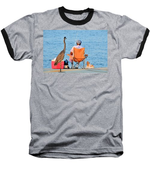 Baseball T-Shirt featuring the photograph What's For Lunch by Charlotte Schafer