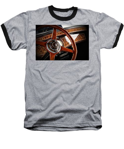 Wheel To The Past Baseball T-Shirt by Aaron Berg