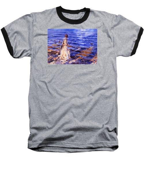 When A Woman Goes Fishing Baseball T-Shirt