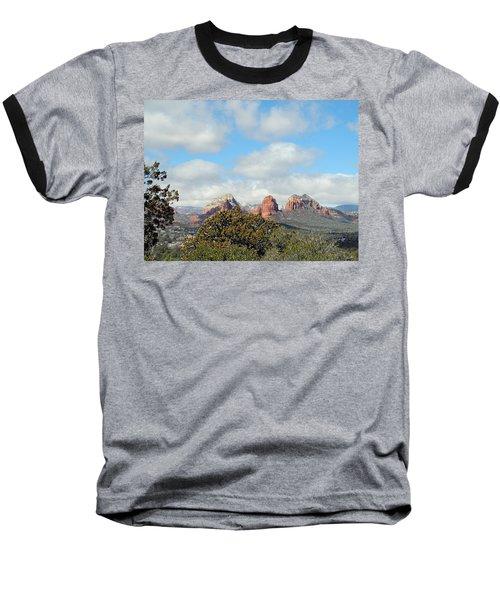 Baseball T-Shirt featuring the photograph When Far Clouds Depart by Lynda Lehmann