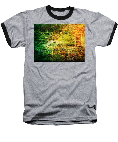 Baseball T-Shirt featuring the mixed media When Past And Present Intersect #1 by Sandy MacGowan