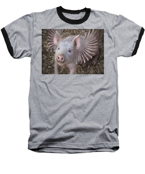 When Pigs Fly Baseball T-Shirt