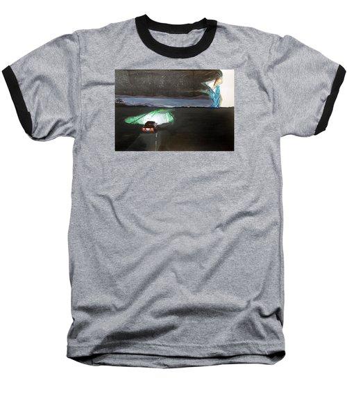 When The Night Start To Walk Listen With Music Of The Description Box Baseball T-Shirt by Lazaro Hurtado