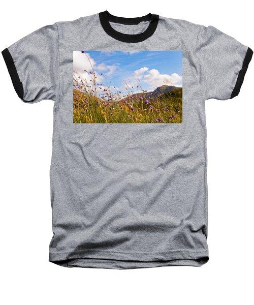 When The Sun Is Shining Everything Around Smiling Towards. Scotland Baseball T-Shirt