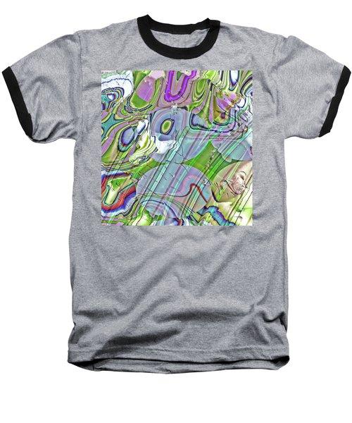 Baseball T-Shirt featuring the digital art When Worlds Collide by Richard Thomas