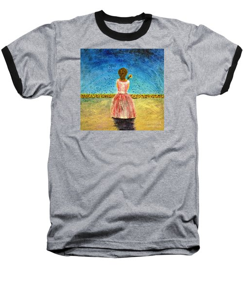 Baseball T-Shirt featuring the painting Where Angels Sleep by Therese Alcorn