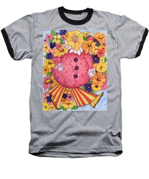 Baseball T-Shirt featuring the painting Whimsy On Parade  by Barbara Jewell
