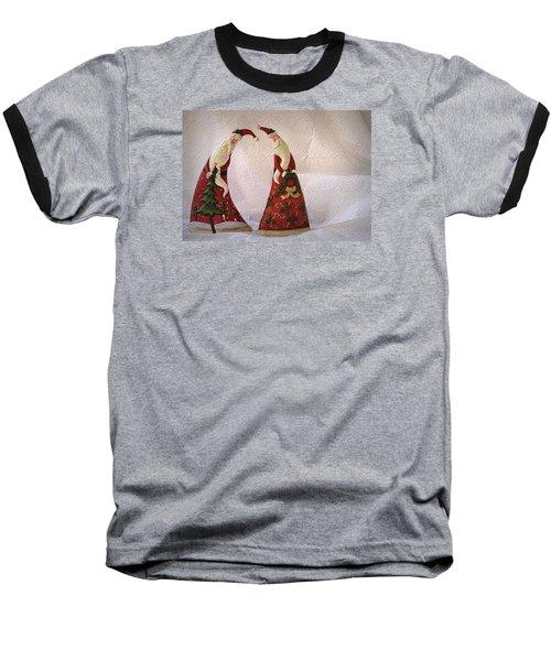 Baseball T-Shirt featuring the photograph Whimsical Santas by Nadalyn Larsen