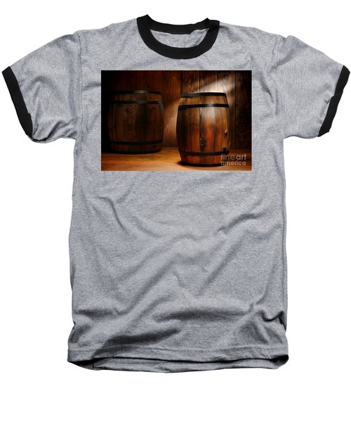 Whisky Barrel Baseball T-Shirt