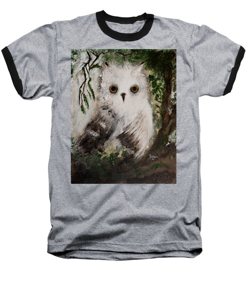 Whisper The Snowy Owl Baseball T-Shirt