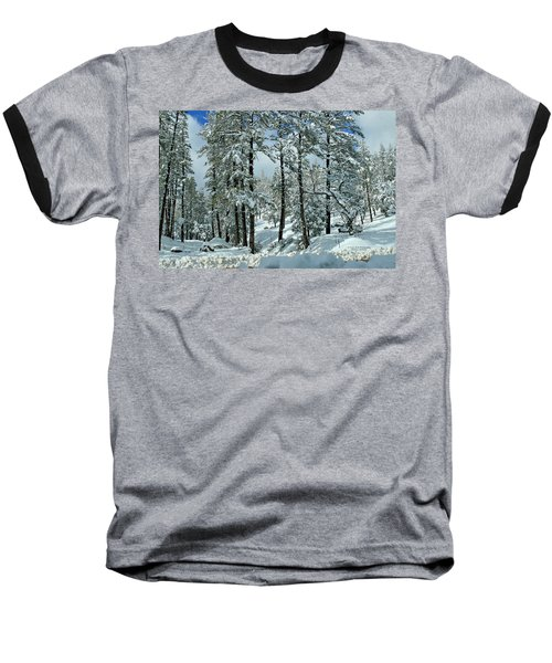 Whispering Snow Baseball T-Shirt