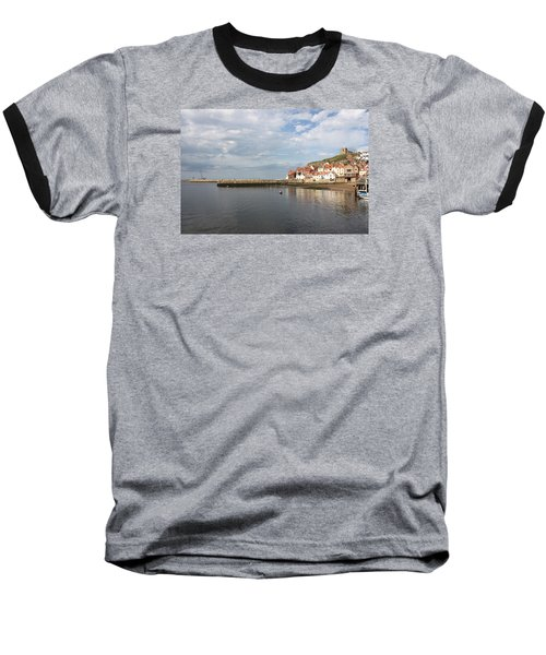 Baseball T-Shirt featuring the photograph Whitby Abbey N.e Yorkshire by Jean Walker