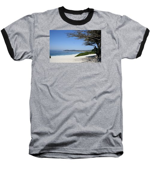 White Beach At Carmel Baseball T-Shirt