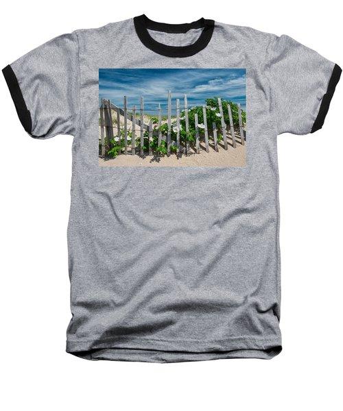 White Beach Roses Baseball T-Shirt