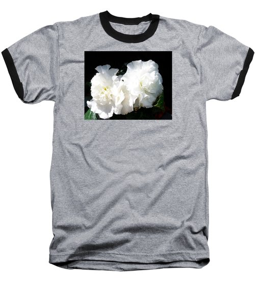 Baseball T-Shirt featuring the photograph White Begonia  by Sharon Duguay