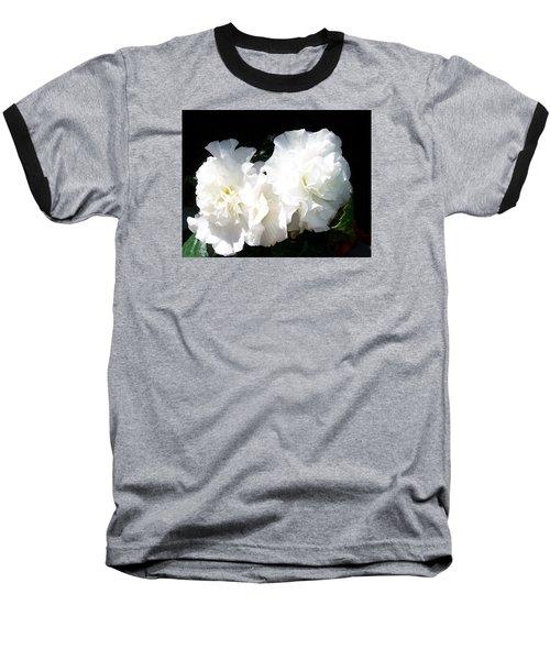 White Begonia  Baseball T-Shirt