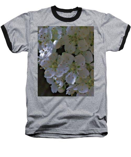 White Blooms Baseball T-Shirt