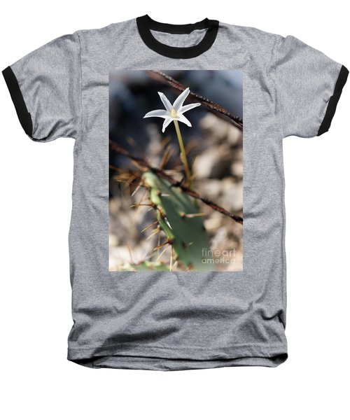Baseball T-Shirt featuring the photograph White Cactus Flower by Erika Weber