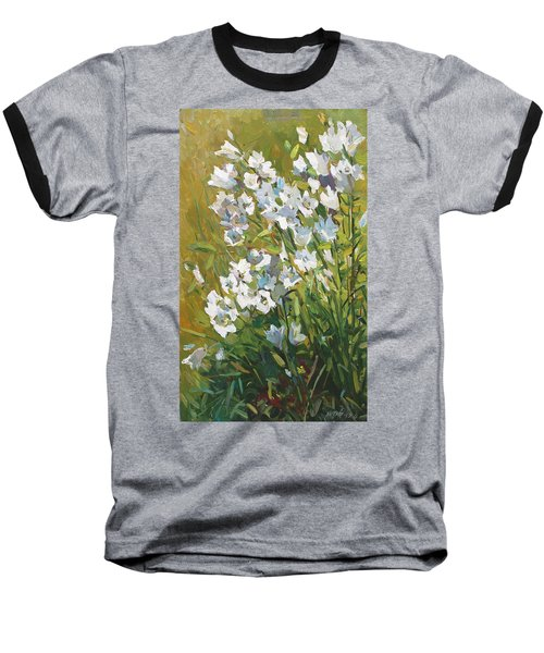 White Campanulas Baseball T-Shirt