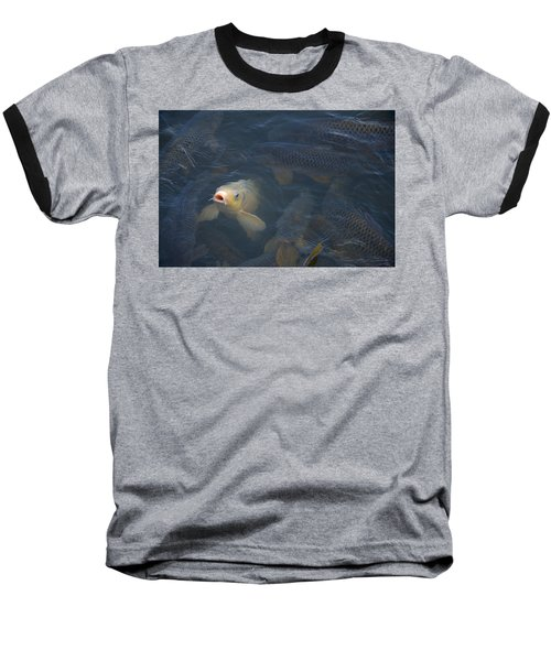 White Carp In The Lake Baseball T-Shirt