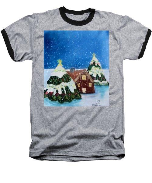 Christmasland Baseball T-Shirt by Joshua Maddison