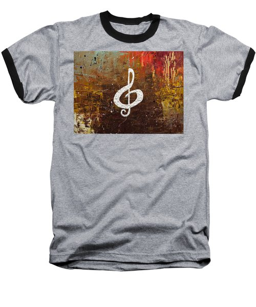 White Clef Baseball T-Shirt