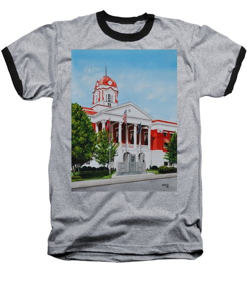 White County Courthouse - Veteran's Memorial Baseball T-Shirt