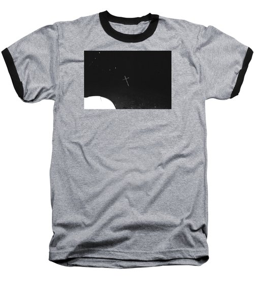 Baseball T-Shirt featuring the photograph White Cross by Steven Macanka