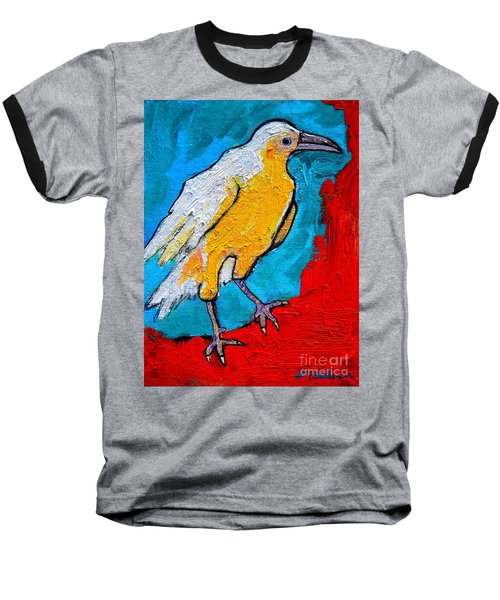 Baseball T-Shirt featuring the painting White Crow by Ana Maria Edulescu