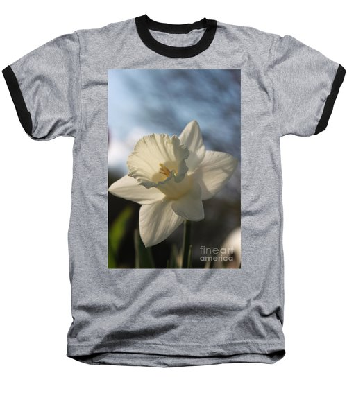 White Daffodil Baseball T-Shirt
