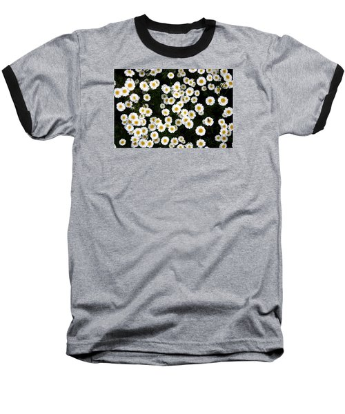 Baseball T-Shirt featuring the photograph White Daisys by Jean Walker