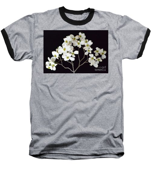 Baseball T-Shirt featuring the photograph White Dogwood Branch by Jeannie Rhode