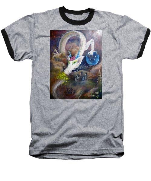 White Dragon Baseball T-Shirt by Jieming Wang
