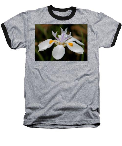 White Flower Baseball T-Shirt by Pamela Walton