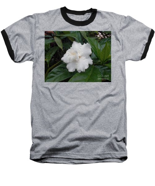 Baseball T-Shirt featuring the photograph White Flower by Sergey Lukashin