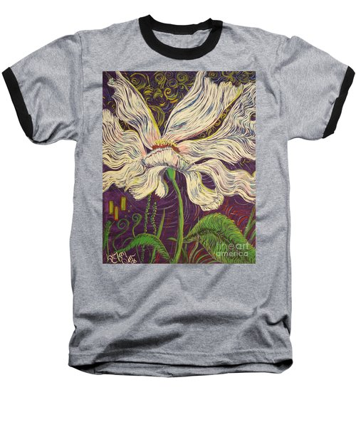 White Flower Series 6 Baseball T-Shirt