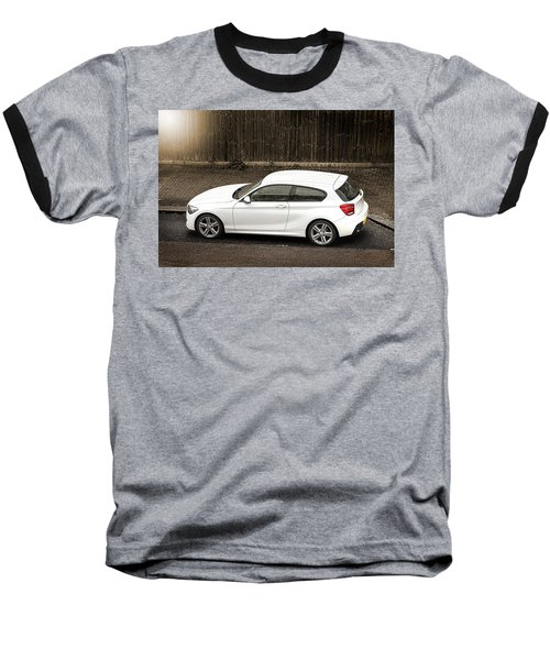 White Hatchback Car Baseball T-Shirt