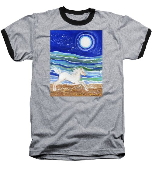 White Horse Of The Sea Baseball T-Shirt