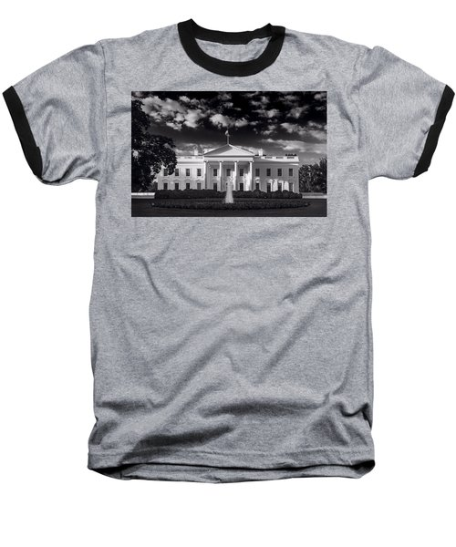 White House Sunrise B W Baseball T-Shirt by Steve Gadomski
