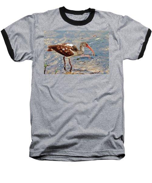 White Ibis Juvenile Baseball T-Shirt