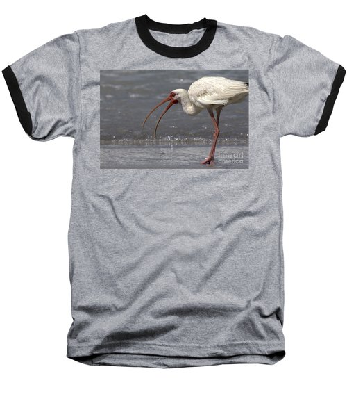 Baseball T-Shirt featuring the photograph White Ibis On The Beach by Meg Rousher