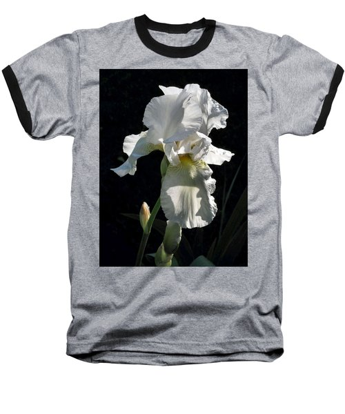 White Iris In The Morning Baseball T-Shirt