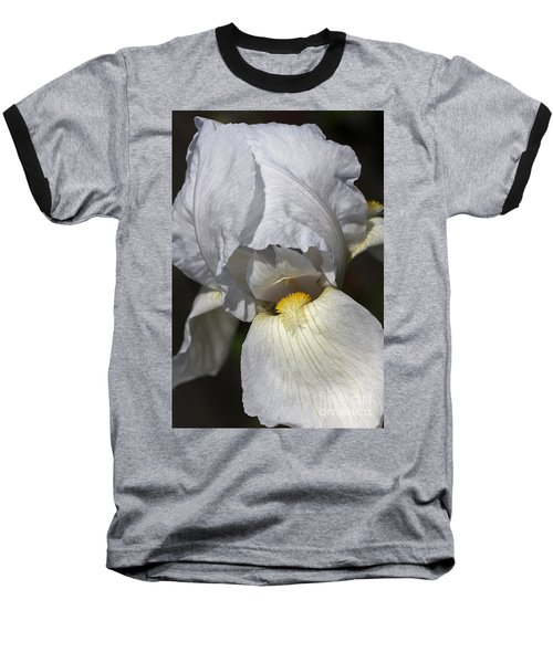 Baseball T-Shirt featuring the photograph White Iris by Joy Watson