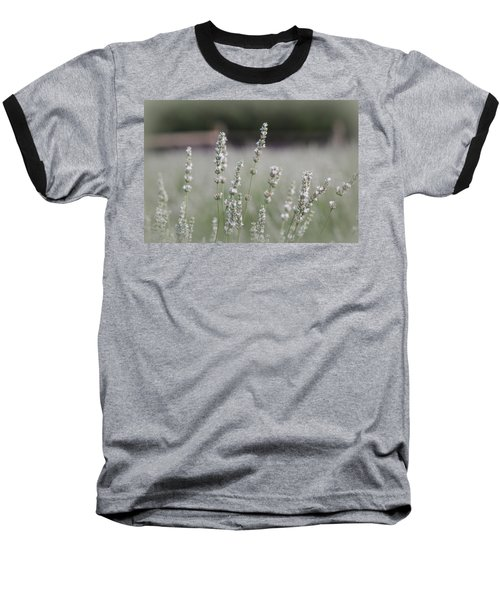 Baseball T-Shirt featuring the photograph White Lavender by Lynn Sprowl